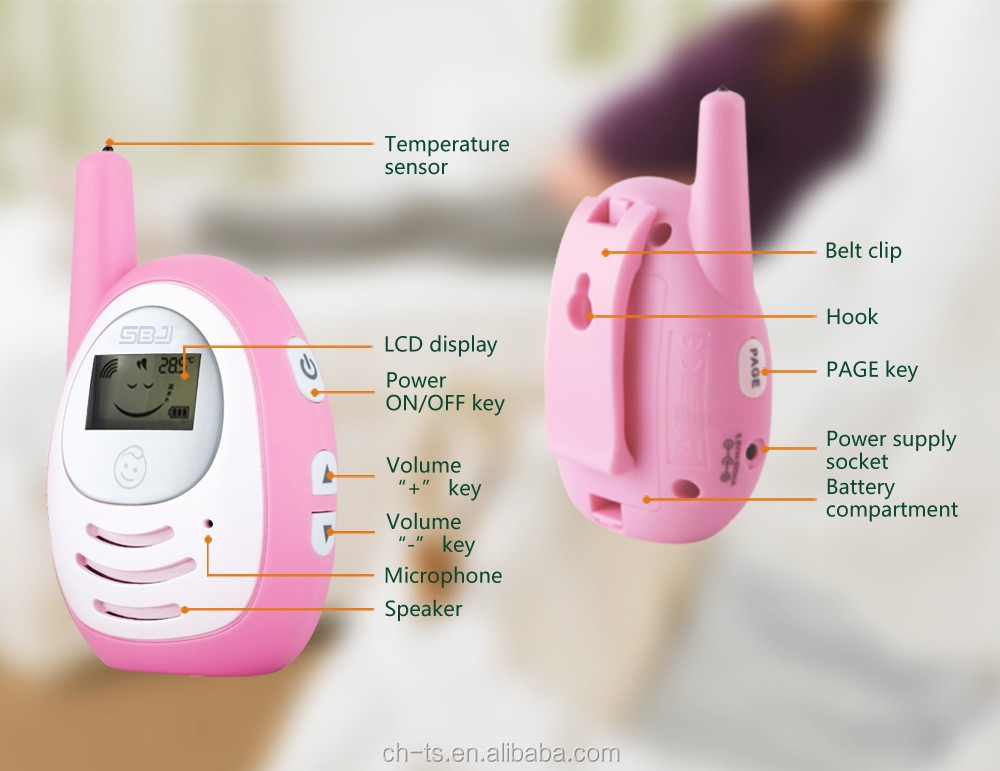 wireless home handy talk back phone auto sound vox digital two way audio baby monitor