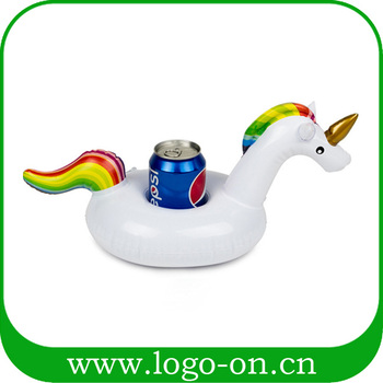 Floating Unicorn Inflatable Cup Holder - inflatable cup holder for beach