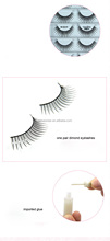 Top Quality Mellow Permanent Wispy False Eyelash Strip Fake Eyelashes with Black Cotton Stalk