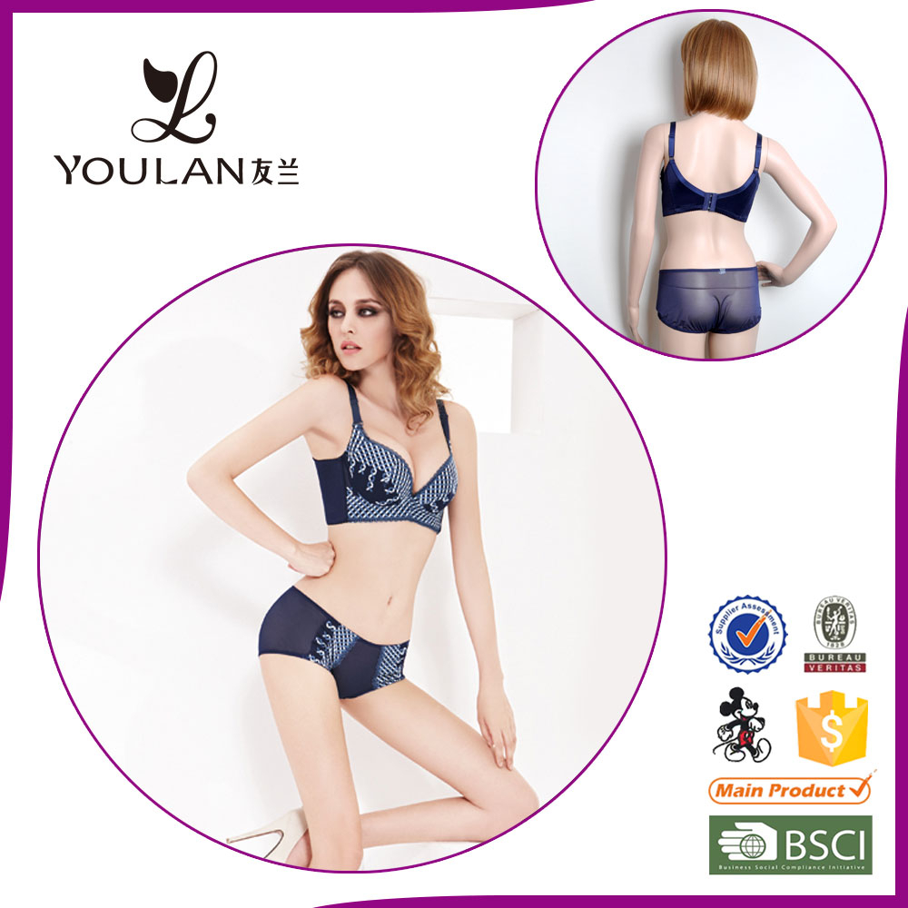 sexi graceful new style attractive full cup sexy bra and panty new design in mesh fabric
