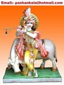 Krishna God Statue with Cow