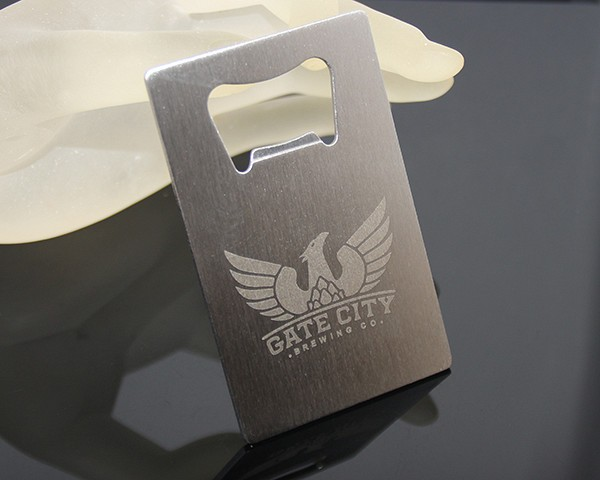 Business Card Sized Stainless Steel Metal Opener Promotional Custom Brewing Beer Company Laser Logo Business Card Bottle Opener