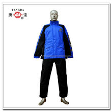motorcycle racing blue polyester rain suit