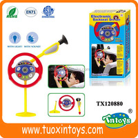 Plastic kids steering wheel toy with light and music