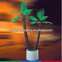 high quality artificial bonsai tree,artificial bonsai coconut,led landscape light