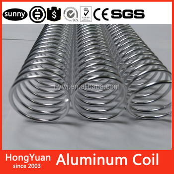 "Logo printed personalized advertising stationery coil binding 1"" aluminum 1inch aluminum wire coils spiral coil binding aluminum"