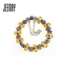 Cheap Fashion Colorful Women Glass Bracelet