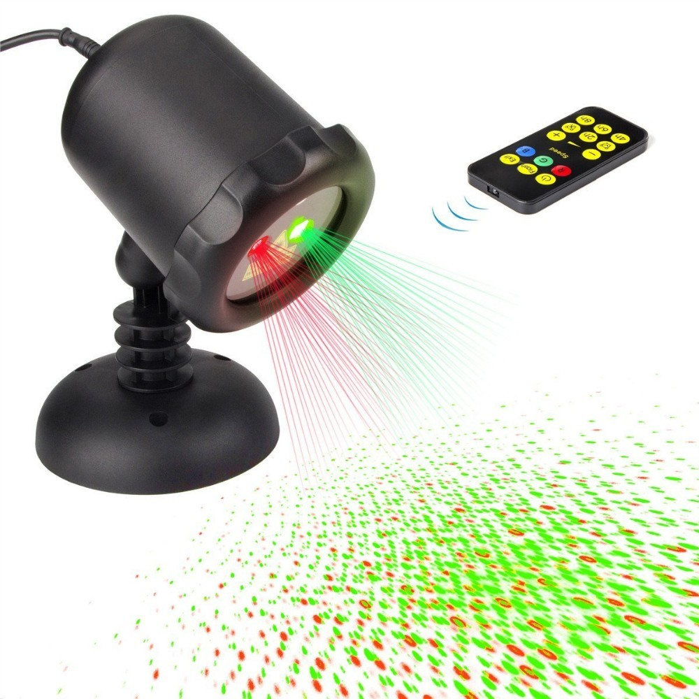 Laser Lights Outdoor Starry Projector Red and Green Blinking Christmas light Decoration