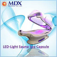 Specialized high quality led light infrared sauna spa capsule for sale