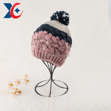2013 fashion double layer hollow knit beanie hat pattern