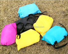(Wholesale) 2017 Outdoor Fast Inflatable Chair Sleeping Bag, Lounger Banana Air Sleeping Bag Sofa, Convenient Air Sofa Couch Bed