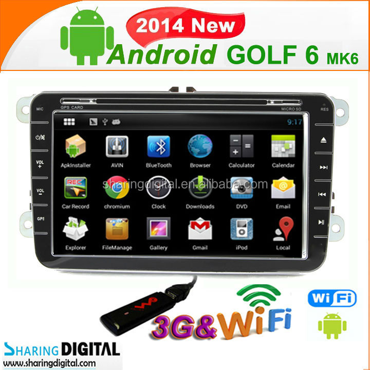 8 Inch Autoradio Sat Nav Support Mirror Link for VW Passat android car dvd gps
