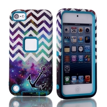 Starry and wave painting detachable hard PC + TPU 3 in 1 phone case for ipod touch 6 case