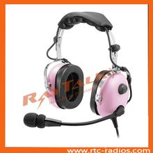 Association With independent volume control pink aviation headset