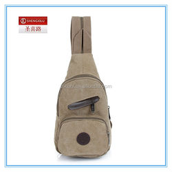 Suitable for men's canvas casual sport One shoulder shoulders dual-use bag