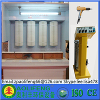 open spray booth With Powder Coating Machine and Spray Gun