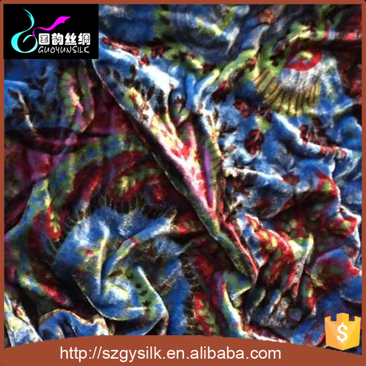 wholesale silk print velvet fabric manufacturers suppliers