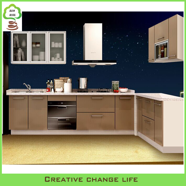 China factory supply modern modular mdf kitchen cabinet for Kitchen cabinets 700mm
