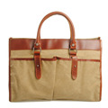 2015 wholesale ladies canvas tote bag with leather trim handbag