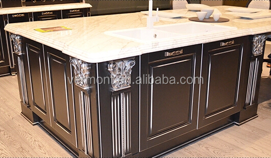 New Fashion Luxurious assemble Solid Wood Kitchen Cabinet VT-SK-028