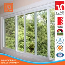 Aluminum 4 panels sliding window With Double Glass with AS2208 Standard