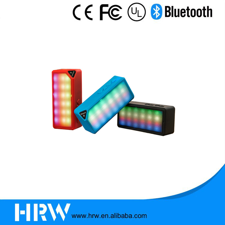 Colorful LED Lights Portable Wireless Mini X3S Bluetooth Speaker
