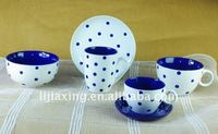 ceramic dinnerware set with the wave of dot