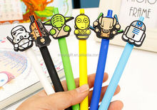 promotion personalized robot cartoon character pvc rubber pen