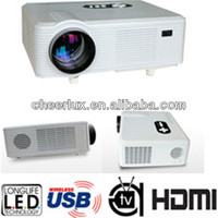 HDMI Portable Projector Support 3d 1080P With hdmi usb vga tv Tuner Connect TV/PC/Telephone