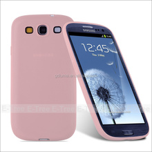 Premium soft TPU Case ultra slim Protector Cover pink case for Samsung Galaxy s3