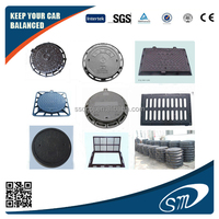 Cast iron/ductile iron/nodular cast iron manhole covers Anti Theft Locking Security Manhole Covers on road