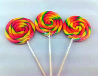 50g/80g/200g/pc big swirl flat lollipop Wave board candy