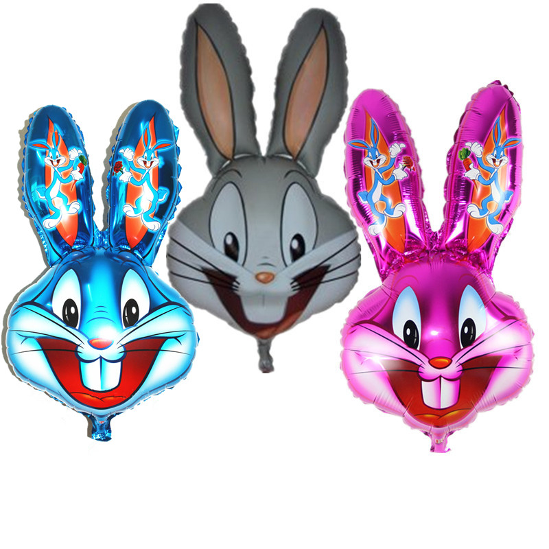Partigos Bugs Bunny Rabbit Head Foil Animal Balloons Cartoon Looney Tunes Animal Ballons Children Classic Toys Party Decorations
