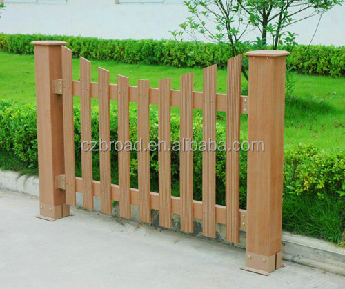WPC decorative garden fencing cheap fence panels wood plastic composite garden fence
