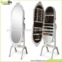 Hand carved wooden mirror frames jewelry cabinet made in china