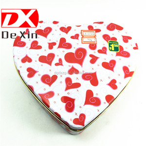 heart shape chocolate tin cans,candy tin case