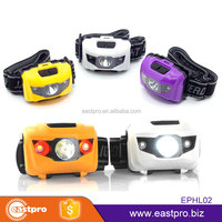 EASTPRO EPHL02 super bright waterproof AAA battery CREE led headlamp with red strobe