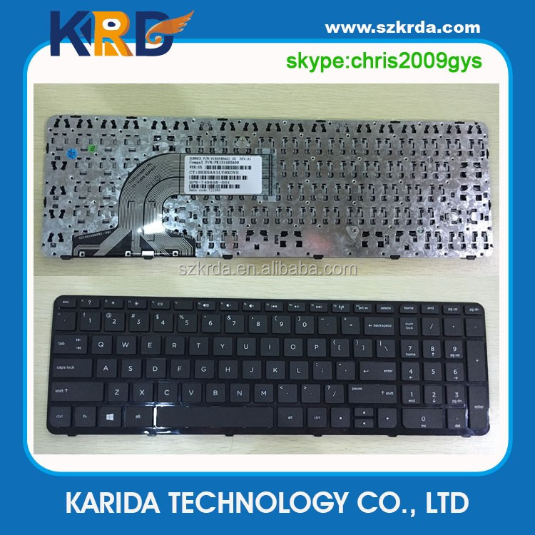 Wholesale laptop keyboard for HP 250 G3 255 G3 15-E 250 G2 notebook keyboard frame black