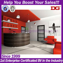 High quality MDF beauty salon service counter custom made salon furniture (DG-H775)