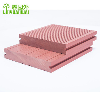 lyw distortion free outdoor composite wpc decking flooring