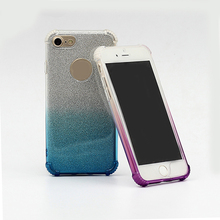Factory price mobile phone flashing gradient color change raindrop back cover tpu case for iphone 7 6 6s plus 5 se