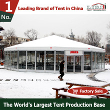 30x30 hexagon marquee tents with curtain ceiling for Wedding party