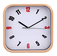 10 inch high quality square shape wooden wall clock
