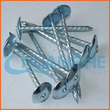 made in china umbrella head roofing nail for asphalt shingles