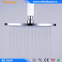 "Beelee BL3610 Solid Brass Chrome 8"" Wall Mounted Round Rain Shower Head"