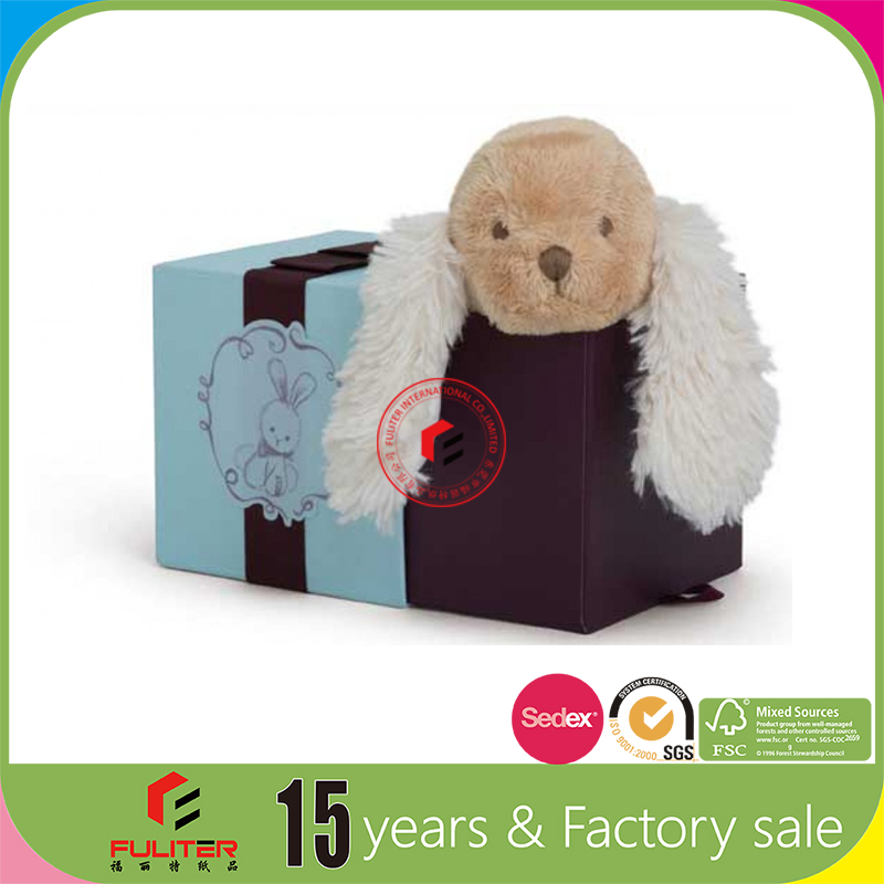 Decorative small cute puppy soft gift toy dog box for sale