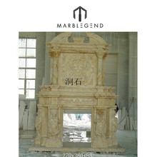 professional customized marble yellow marble victorian fireplace