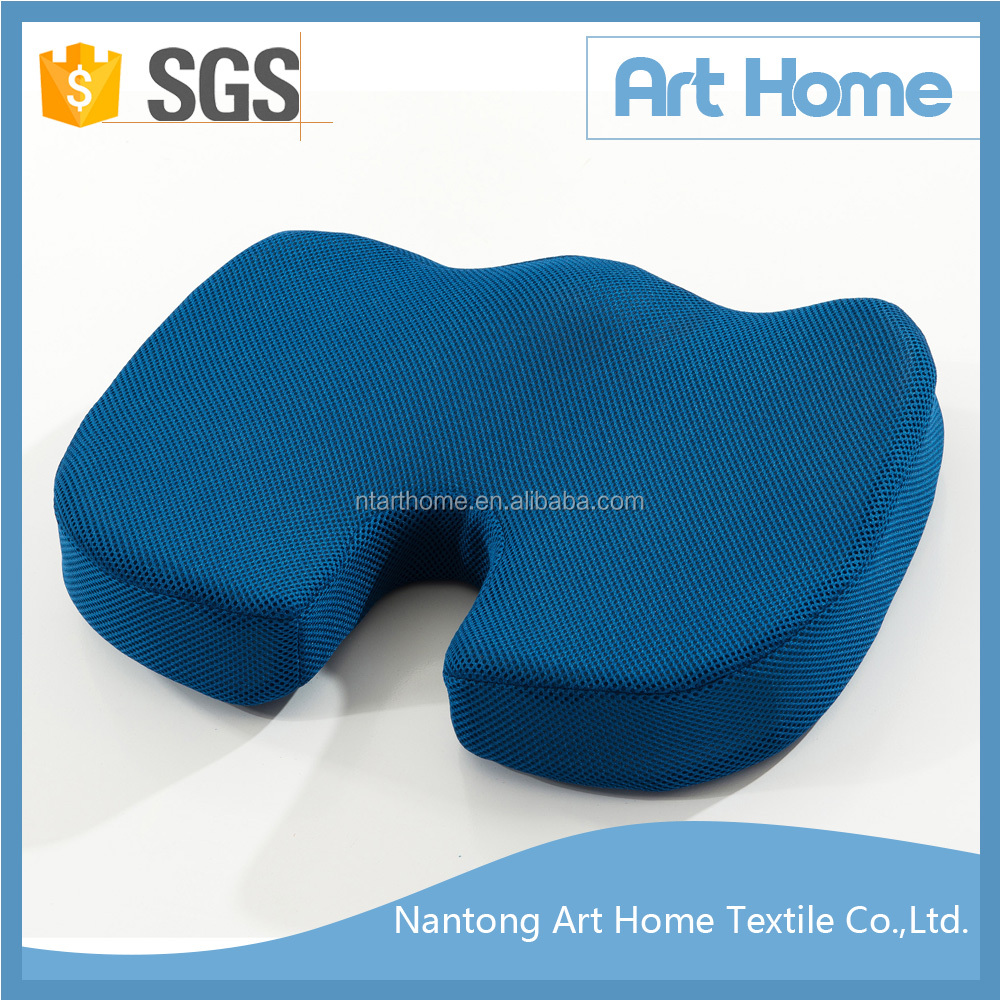 Non-slip mesh fabric Coccyx Orthopedic Memory Foam Seat Cushion for Office Chair, Car Seat, Travel, Driving, Wheelchair