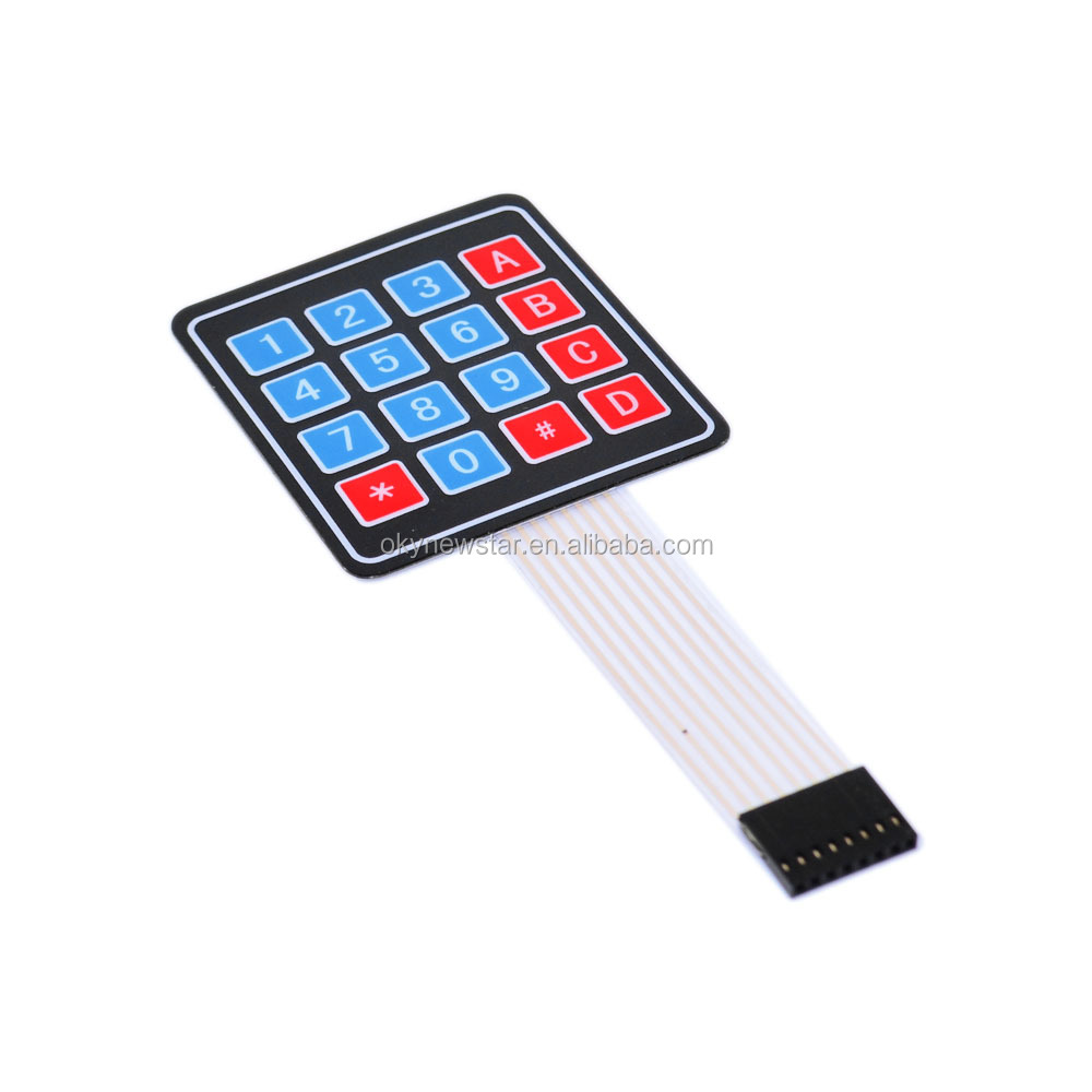 Okystar OEM/ODM New 4x 4 Matrix Array 16 Key Membrane <strong>Switch</strong> Keypad Keyboard