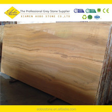 super thin straight vein cut Yellow wood marble slab